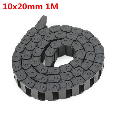 10 x 20mm Plastic Cable Drag Chain Wire Carrier Length 1000mm For CNC Machine
