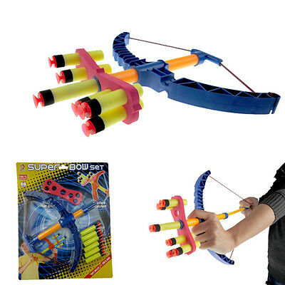 Kids Bow Arrows With Set 6 Sucker Arrows and Archery Target Sport Game Toy Funny