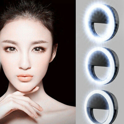 Nice Selfie LED Ring Flash Fill Light Clip Camera For Phone iPhone Samsung SONY