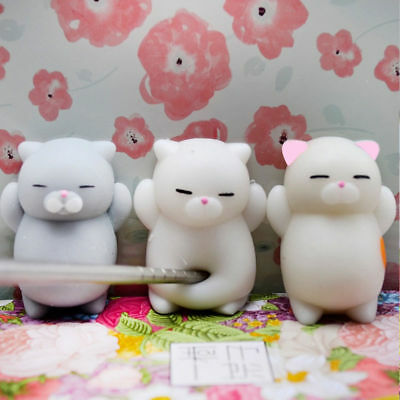 1X Cute Squishy Soft Cartoon Cat Squeeze Healing  Baby Toy Elastic Stress Relief