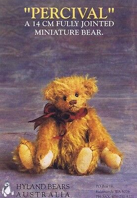 Bear Making Sewing PATTERN Jointed, PERCIVAL 14 cm 5 inch Miniature 1900 Vintage