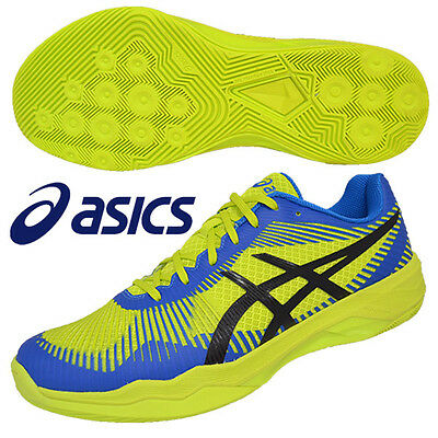 ASICS Japan Men's Volley Elite FF Low Volleyball Shoes TVR715 2017 Yellow Blue