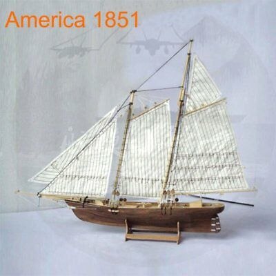 Scale 1/120 Laser-cut Wooden Sailboat Model Kit: The American1851 Ship Model