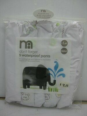 LOT of 30 Mothercare 5-pack waterproof pants 6-12 months disposable nappies