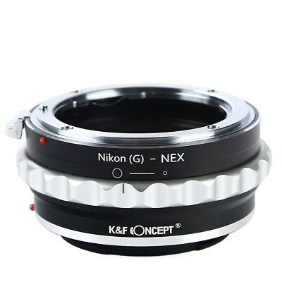 K&F Concept Adapter for Nikon G AF-S F AI Lens to Sony E Mount NEX a5000 A7II a7