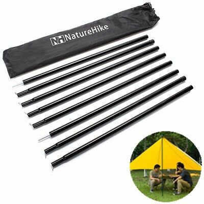 Black Universal Canopy Porch Tent Upright King Poles for Tarp Tent Cover Awning