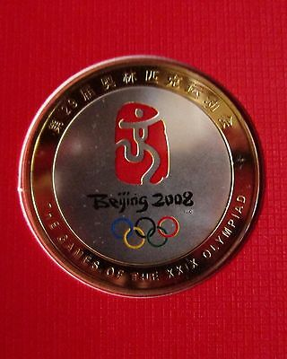 The Mascots Of The 2008 Beijing Olympic Games Silver Badge Album VERY RARE