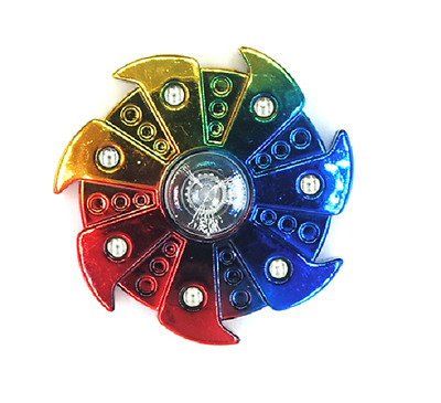 Rare Fidget Hand Finger Tri Spinner Rainbow Toy For Kids EDC ADHD Autism