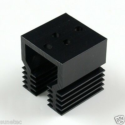 SS388% TO-3 holes x1 Aluminum Black Heatsink Heat Sink Audio Amplifier