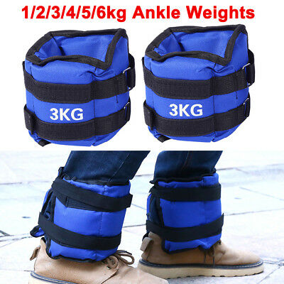 1-6kg 1 Pair ADJUSTABLE ANKLE WEIGHTS GYM EQUIPMENT WRIST FITNESS YOGA AU STOCK