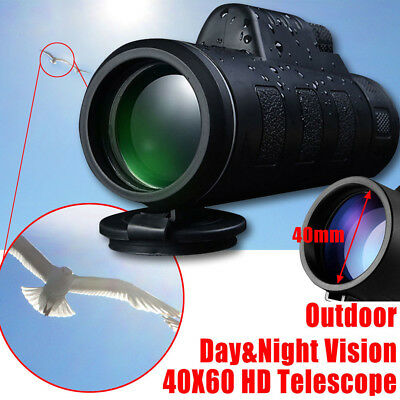 Super-High Power 40 X 60 Portable HD Optik BAK4 Night Vision Monokular Teleskop