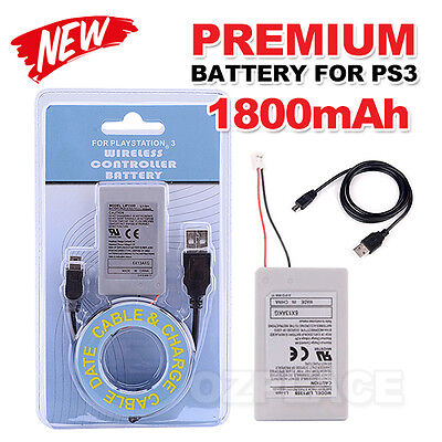 For PS3 Wireless Controller Battery Playstation 3 Li-ion Battery 3.7V 1800mAh