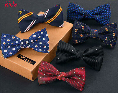 Kids Boys Children Silk Wedding Party Adjustable Pre Tied Bow tie Quality Dickie