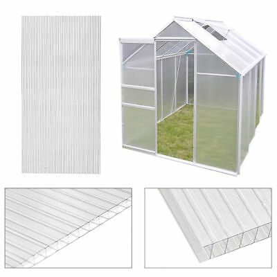 4mm Polycarbonate Greenhouse Glass Replacement Sheet Glazing 4x610x1220mm, 2x4ft