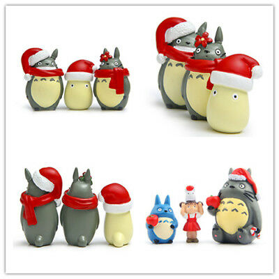 Christmas Totoro Figurine Japanese Collection Kids Cartoon Toys Garden Supplies