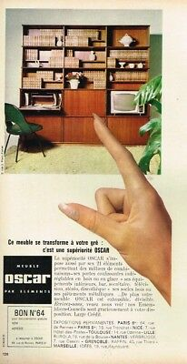 J- Publicité Advertising 1964 Meuble Oscar par élements