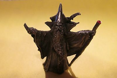 Pewter Fantasy Wizard With Dragon On His Back Figurine