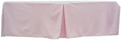 TL Care Heavenly Soft Minky Dot Tailored Crib Skirt, Pink