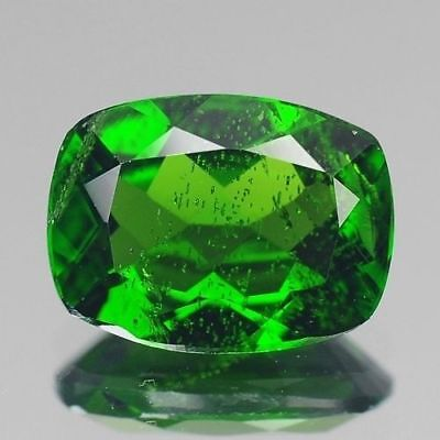1.30cts 6x8mm Natural Loose Gemstones Cushion Chrome Green Diopside Free Ship