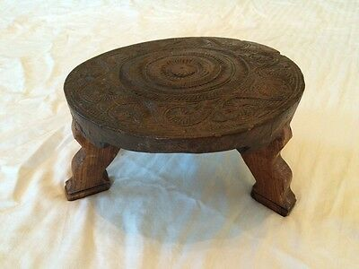 Incredible Antique Vintage Wooden Circular Foot Step Stool 3 Legs Ibusinesslaw Wood Chair Design Ideas Ibusinesslaworg