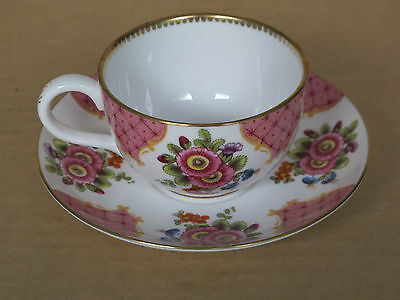 Lovely Royal Worcester Flowers Demitasse Coffee Cup & Saucer