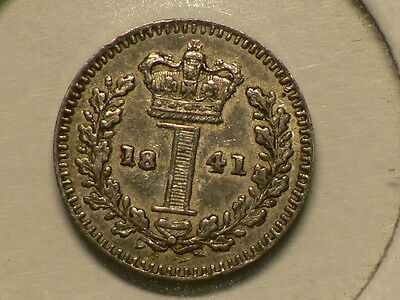 Great Britain 1841, Silver Penny Maudy, Queen Victoria, KM# 727 #G6538