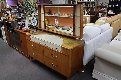 Vintage dressing table with mirror. Selling for Oxfam Mirfield.