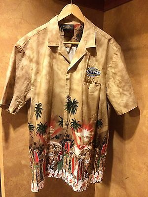 ☀VTG☀Royal Creations☀Castaways Hotel Casino☀Vegas☀Hawaiian Shirt XL Surf Board