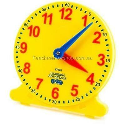 Educational Learning Clock Analogue Student 10cm Teaching Tell Time Home School