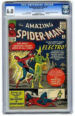 MARVEL Comics SPIDERMAN spider-man #9 1964 1ST appearance ELECTRO FN+ 6.0 CGC