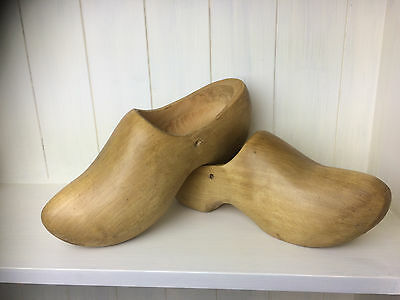 Large Wooden Cloggs - Vintage