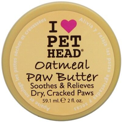 Quality Pet Head Oatmeal Paw Butter 59.1 ml for Dogs Soothes Dry Cracked Paws