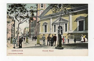 CHURCH STREET: Gibraltar postcard (JH2133)