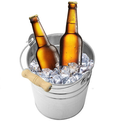 US 3.5L Beer Ice Bucket Galvanized Metal Punch Wine Juice Cooler Champagne Party