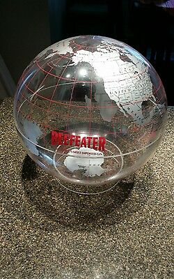 Vintage BEEFEATER GIN Liquor World Map Lucite Globe Barware Advertising w/stand.