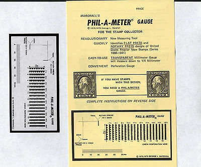 OPC Phil a meter Perf gauge Identifies Flat & Rotary Press With Instructions New