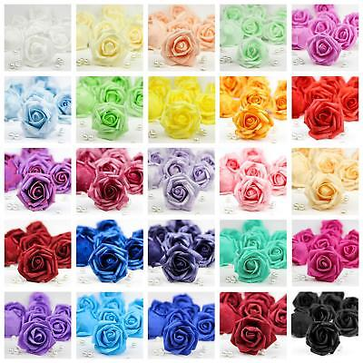 36 Colors Foam Roses Artificial Flowers Heads Party Wedding Home Holiday Decor