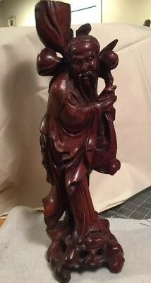 Hand Carved Wood Immortal Sau Figurine