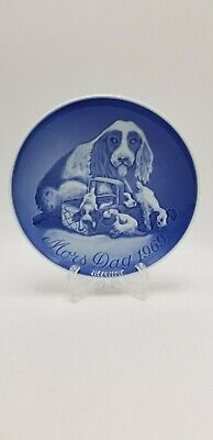 Bing and Grondahl Mother's Day Plate 1969 Cocker Spaniel Dog and Puppies.