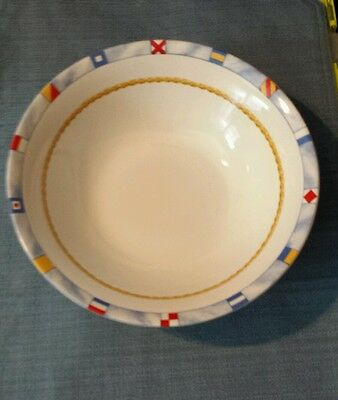"Americana ""Regatta "" by Fitz and Floyd 9 inch serving bowl"