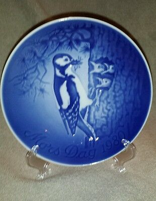 Bing and Grondahl Mother's Day Plate 1980 Woodpecker and Young