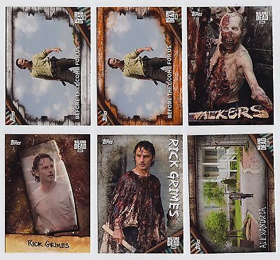 Topps The Walking Dead Season 6 Complete Master Set + Inserts - 248 Cards - QTY