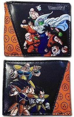 DragonBall Dragon Ball Z Heroes & Villains Goku Vegeta Wallet Anime DBZ *NEW*