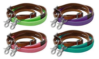 Showman 7ft Rubber Grip Colored Western Snap On Barrel Reins