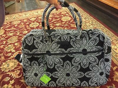 Nwt Vera Bradley Blanco Bouquet Grand Traveler Carry On Weekender Bag