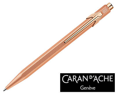Caran d'Ache 849 Brut Rosé Ballpoint Pen 849.997, with holder
