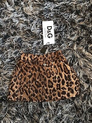 New With Tags - D&G Dolce & Gabbana Leopard Skirt - 6-9 M