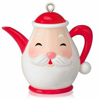 NEW Hallmark 2014 Santa's Little Teapot Miniature Ornament