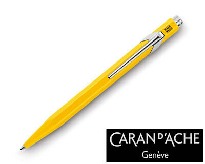 Caran d'Ache 849 Metal Yellow Ballpoint Pen 849.010