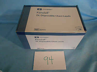 Covidien Kendall # 33111 DL Disposable Chest Leads (Box of 10) NEW